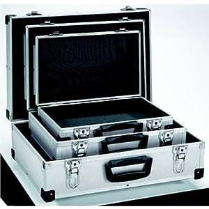 Fairline Boîte à outils 3-en-1 en aluminium Argenté