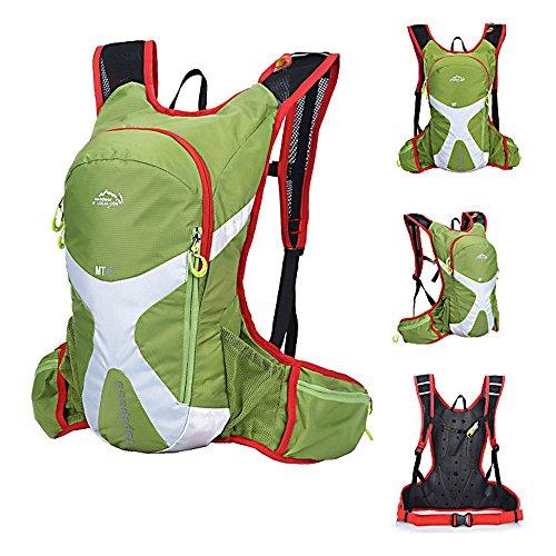 Outdoor lokale Löwe 5L Rucksack Hydration Pack Wasser Rucksack Leichte Tasche Radfahren/Wandern/Klettern Tasche + 1,5l Trinkblase Grün