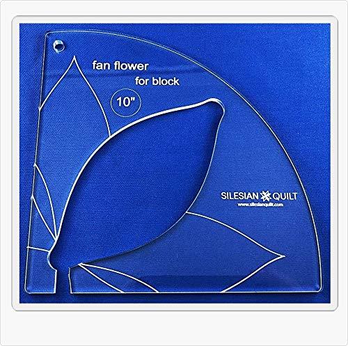 Vorlage für Quilting Fan Blume 10 inches block