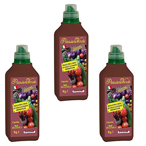 concime liquido biologico alghe x piante da orto e aromatiche 3x 1 lt