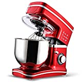 CookJoy 1000W Stand Mixers 8-Speed Kitchen Electric Mixer Machine with 5 Liters Bowl 304 Stainless Steel