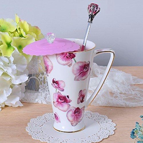 ZHGI Prima scelta dell'osso Cina grande capacità tazza, tazza di caffè pastorale, tazza di latte, (Grande Cina Tazza Di Caffè)
