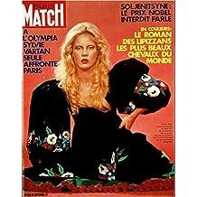 Paris Match n° 1220 du 23 Septembre 1972 - Sylvie Vartan à l'Olympia (2 pages), Steve Mc Queen et Ali Mc Craw (4 pages), les Jeux olympiques de Munich (3 pages)