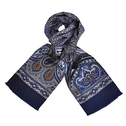 Toutacoo, Foulard di Seta Della CARVEN per Uomo Lys - Blu