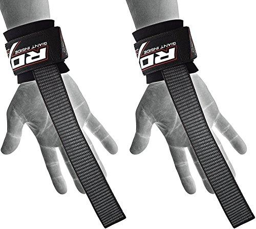 RDX Zughilfen Klimmzughaken Krafttraining Latzughilfe Gewichtheben Handgelenkstütze