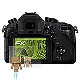 atFoliX Displayschutz für Panasonic Lumix DMC-FZ1000 Spiegelfolie - FX-Mirror Folie mit Spiegeleffekt