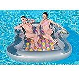 TongNS2 Doble Hamaca Flotante Cama De Agua Playa Lago Piscina Tumbona Inflable Silla Creativa Sofá Plegable del Aire Recliner Hinchable Compacta Portátil para Adultos Y Niños