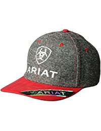 Ariat Men's Red Bill Fabric Cap, Gray, One Size