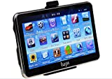 "LUJII Car GPS SAT NAV Navigation System Touchscreen Multimedia Player/ FM Transmitter/TF/ with UK and Europe Maps Installed series (4.3"" Smooth Black)"