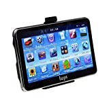 LUJII Car GPS SAT NAV Navigation System Touchscreen Multimedia Player/ FM Transmitter/TF/ with UK and Europe Maps Installed series (5 INCH) (5.0 touch)