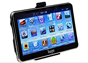 LUJII Car GPS SAT NAV Navigation System Touchscreen Multimedia Player/ FM Transmitter/TF/ with UK and Europe Maps Installed series. UK plug(5 INCH)