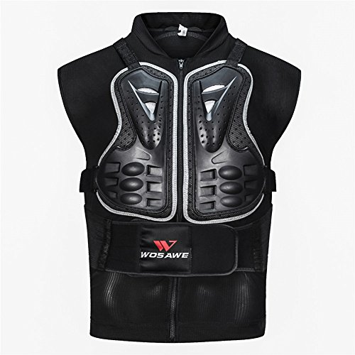 WOSAWE Motorcycles Brust Rücken Spine Protector Rüstung Weste Anti-Fall Ausrüstung Racing Body Armor für Motocross, Radfahren, Skifahren und Skateboardfahren XXXL - Kontur Der Brust