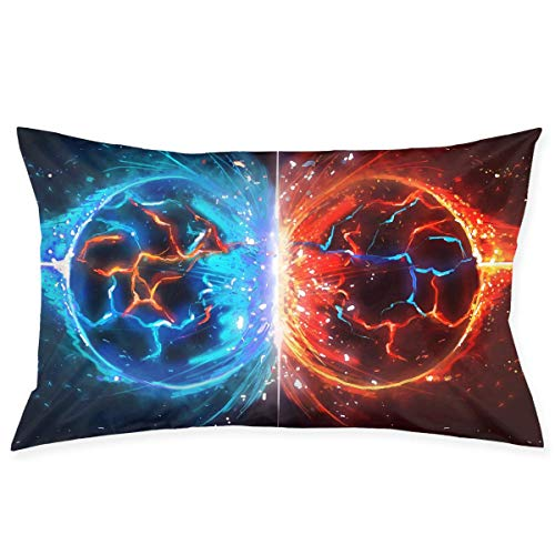 ce Planets Collision Graphics Kissenbezug - Zippered Kissenbezug, Pillow Protector, Best Pillow Cover - Standard Size 20x30 Inches, Double-Sided Print ()