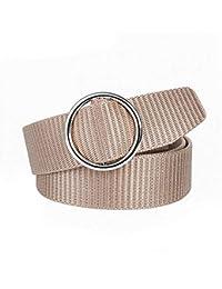 LLZGPZPD Cinturón De Lona Cinturón De Mujer Cinturón De Oro con Hebilla De  Metal Cinturones De Lona De Nylon para Mujer Cinturón De Puño… 807ca4468664