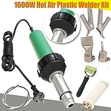 Seababyhouse Profesional 1600W Pistola de soldador soldadura aire caliente de plastico Barra de agarre con boquillas