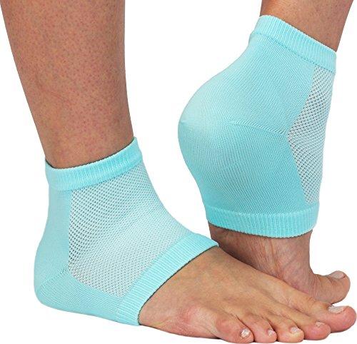 NatraCure atmungsaktive & feuchtigkeitsspendende Gel Fersensocken – Anti Hornhaut & Fersensporn Socken, Hacken & Fersenschutz gegen Fersenschmerzen für Damen & Herren – Einheitsgröße