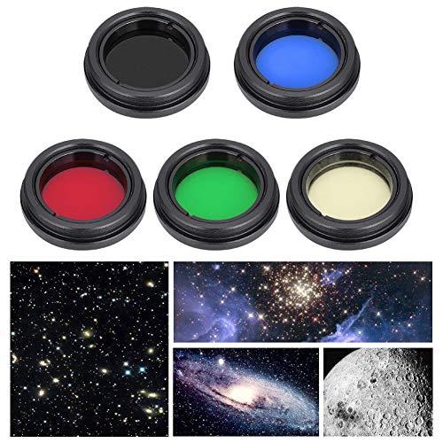 Telescopio Lente ocular Juego de filtros,lentes de aleación de aluminio profesional Filtro de color...