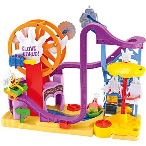 - Imaginext - Spongebob Schwammkopf - Glove World / Handschuhwelt Freizeitpark - mit Spongebob, Patrick und viel lustigem Zubehör ()