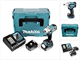Makita DTW 285 RTJ 18 V Li-Ion Akku Schlagschrauber im Makpac + 2 x BL 1850 5,0 Ah Akku + DC 18 RC Schnellladegerät