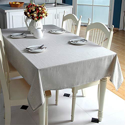 Songhj tovaglia in lino di cotone tinta unita blu chiaro tovaglia anti-polvere per banchetti in tessuto tovaglia rettangolare a 90x150cm