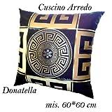 Versace Xusuzhi Cuscino e federa, colore: nero con logo