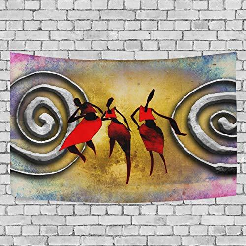 JSTEL Vintage Afrikanische Frau Wandbehang Dekoration für Wohnzimmer, Wohnzimmer, Wohnzimmer, Tisch, Überwurf, Tagesdecke, Wohnheim, 100 x 150 cm, Multi, 150 x 230 cm - Afrikanische Wohnzimmer Tisch