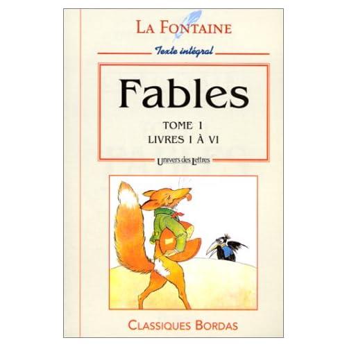 LA FONTAINE/ULB FABLES T.1 NP    (Ancienne Edition)