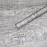DUOCK Carta da parati vintage in finto legno 3d Stecca a spillo Marrone Tavola di legno autoadesivo Soggiorno camera da letto Cucina Decorazione della parete di casa, 610402