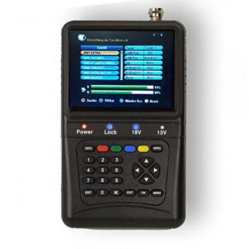 PremiumX PXF-1000 Digitaler Sat Finder mit 3,5' LCD-Display Satellitenerkennung