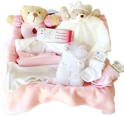 New Arrivals Hamper: Baby Girl Gift Wrapped