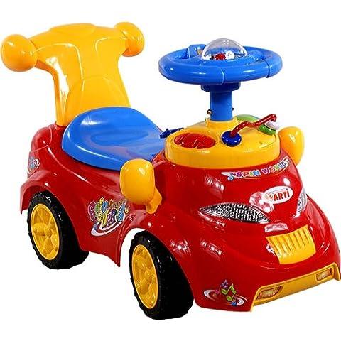 Correpasillos y andados para bebes - Portador con funcion empuja -Tire del juguete - Coche para bebe - Coches para ninos - Baby car ARTI 378 Car Deluxe Red Ride-On