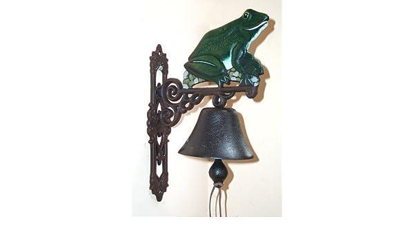 G98: Landhaus Wandglocke Frosch Gusseisen Türglocke Glocke im Antikstil