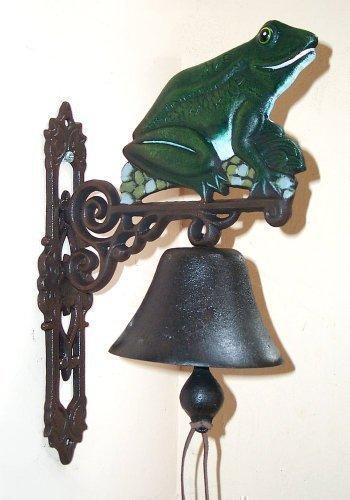 Grenouille cloche de porte en fonte style maison de campagne, sonnette