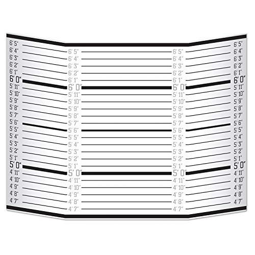 Beistle 53396 Tasse Shot Lineup Foto Requisite 91,4 x 63,5 cm schwarz und weiß