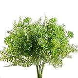 Nahuaa Kunstblumen 4 Stücke Künstliche Pflanzen Weiss Sukkulenten Balkon Fake Blumen für Blumenstrauß Außen Garten Hochzeit Wohnung Tisch
