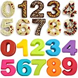 DUBENS 10 Stück (Zahlen 0-9) Silikon Kuchenform Set, Große Anzahl Backformen Kueche Baking Silikonform, für Geburtstag, Hochzeit, Jahrestag Schokolade, EIS Würfel,Cookies, Cakes