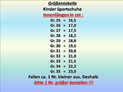 gibra , Baskets pour garçon schwarz/orange/neongelb