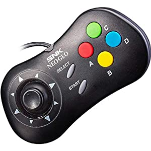 SNK Neo Geo Mini Console Official Gamepad Controller (International Edition) : BLACK