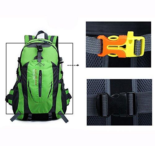 Sacchetto di alpinismo HWJF 40L borsa impermeabile del sacchetto di corsa del nylon dello zaino di svago delle spalle delle spalle , Orange yellow Blue black