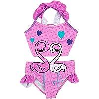 Trajes de baño Lindo Niños Espalda Deportiva del Juego de natación Junior Femenino de baño de Nadada del Traje de baño para Las niñas Niños (Color : Pink, Size : 3T)