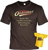 T-Shirt 45.Geburtstag Geschenkset - Geschenk-Idee Geburtstag 45 : Baujahr 1973-45 Jahre - 45 Jahre Tshirt + Mini T-Shirt Für Flaschen Gr: XXL Farbe: Braun