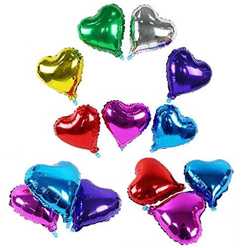 Preisvergleich Produktbild ROSENICE 10pcs Herz Form Folieballons für die Hochzeitsdekoration