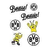BVB Aufkleber Set 7 Stück, Folie, schwarz/gelb, 10 x 15 x 1 cm, 7 Einheiten