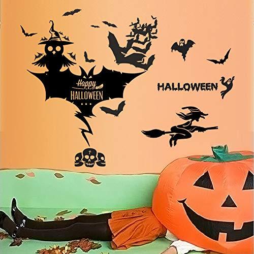 Murciélago Negro Cráneo Bruja Festival-Festival Halloween-Festival Von der Suche nach einer Wasserwerkstatt In den Warenkorb von Ventura Decoración Del Hogar ()