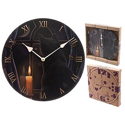 Lisa Parker Midnight Vigil Cat Picture Clock