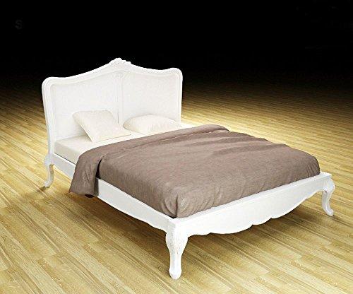 Antikes Bett (French Antik Weiß Charlotte 5'King Size Bett)