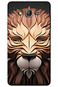 AMAN Lion Statue 3D Back Cover for Samsung Galaxy On5 Pro