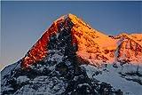 Poster 150 x 100 cm: Eiger bei Sonnenuntergang. Blick vom