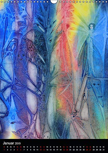 Fantasie 2019 (Wandkalender 2019 DIN A3 hoch): Aquarelle und Aquarell-Collagen (Monatskalender, 14 Seiten ) (CALVENDO Kunst)