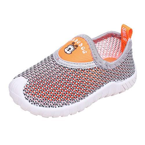 Pingtr - Unisex Babyschuhe Atmungsaktives Sportschuhe,Jungen und Mädchen Sportschuhe atmungsaktive Schuhe weichen Boden Rutschfeste Mesh-Schuhe Laufschuhe BABUDOG
